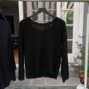 Black Nili Lotan Cashmere Sweater
